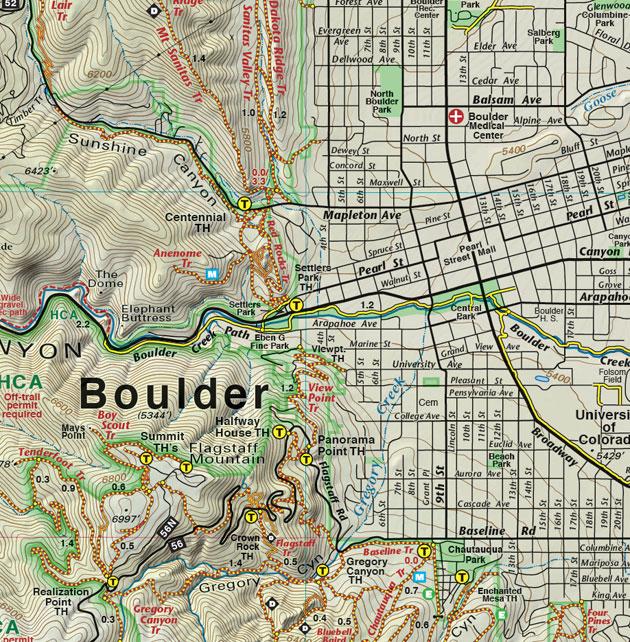 Boulder Colorado Trail Map
