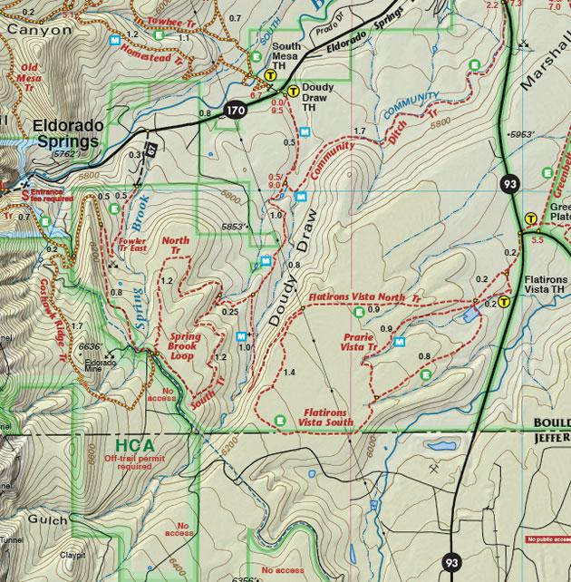 Eldorado Springs Colorado Map