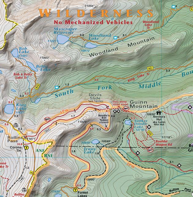 Nederland Rollins Pass map