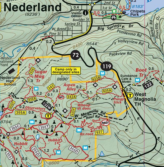 Nederland West Magnolia mountain biking trails