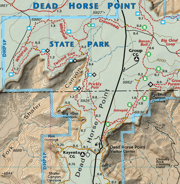Dead Horse Point map arches national park