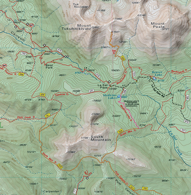 la sal pass map moab utah