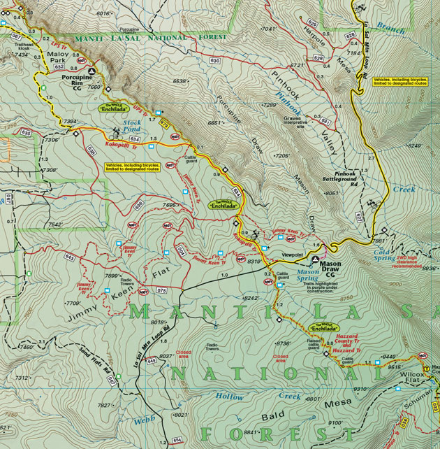 Moab The Whole Enchilada trail map