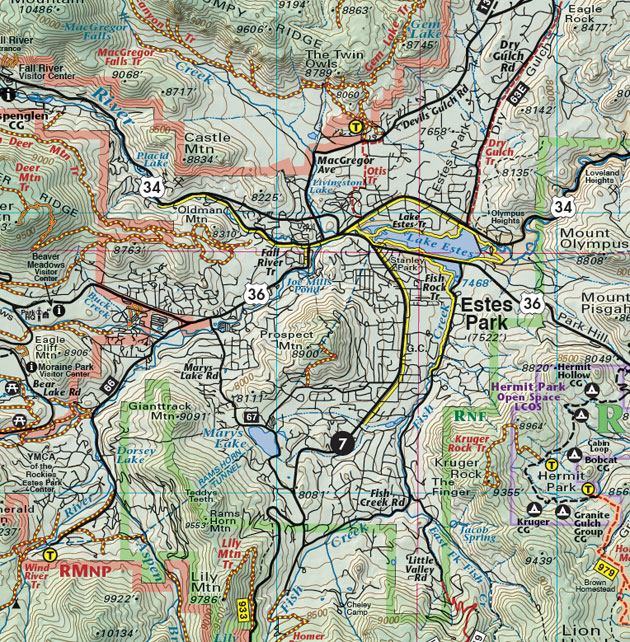 Estes Park recreation trail map