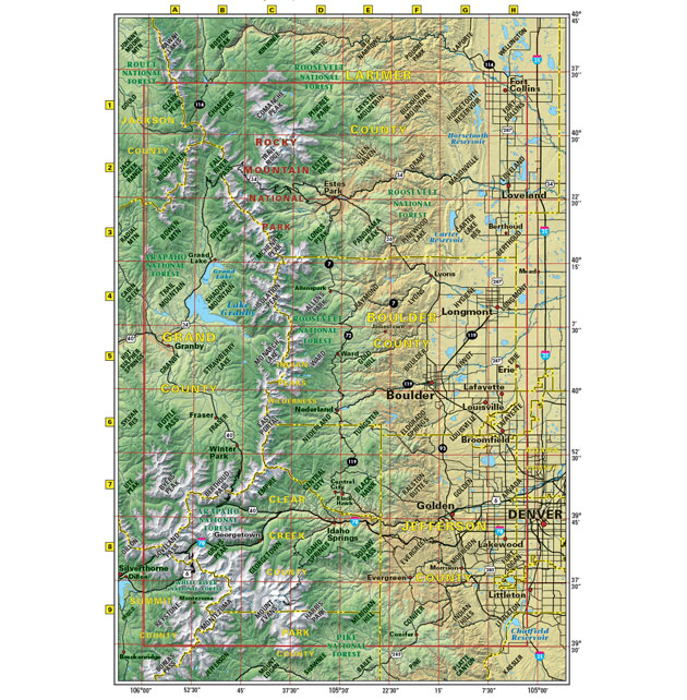 Colorado Front Range trail map
