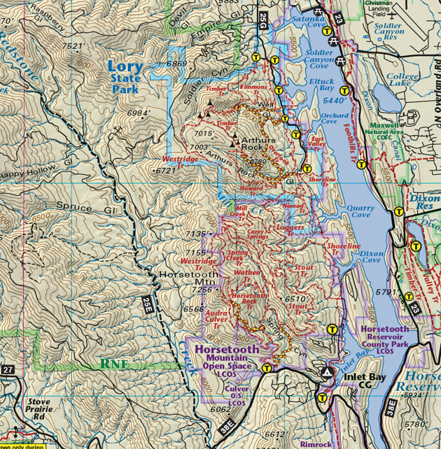 Horsetooth Resevior trail map