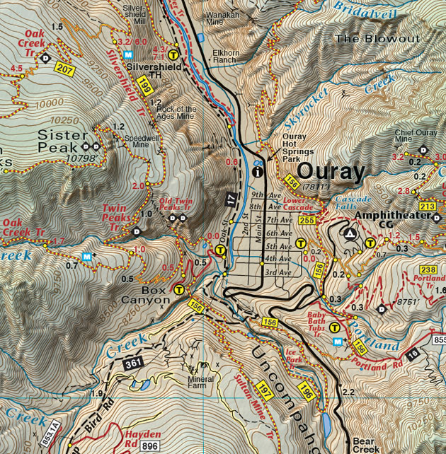 map of ouray colorado