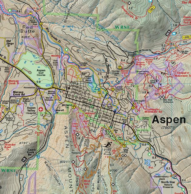 aspen colorado map
