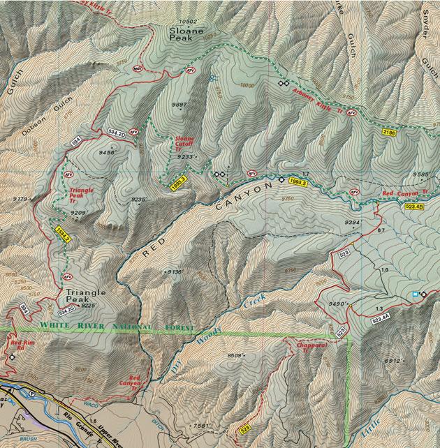 sloane peak colorado map