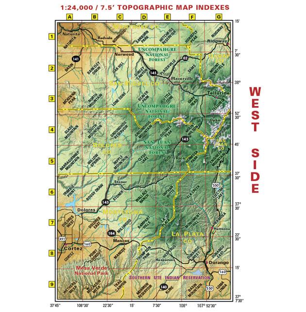 southwest colorado four wheel drive map