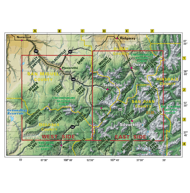 telluride silverton ouray map