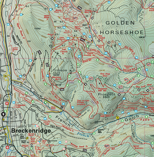 Breckenridge mountain biking map