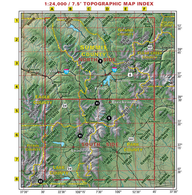 Summit Country trail jeep mountain bike map