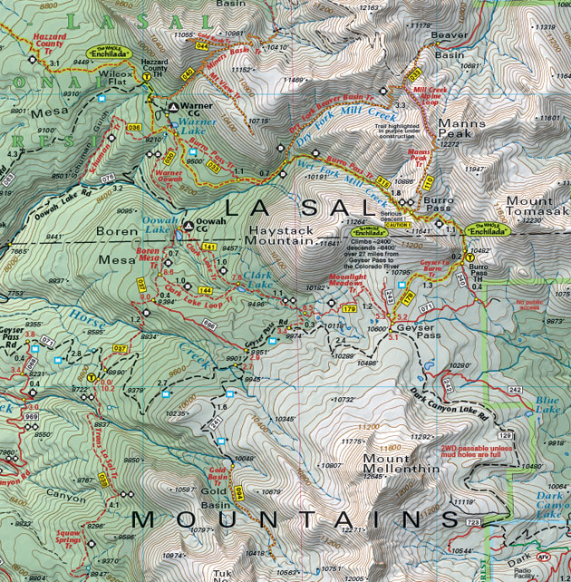 moab la sal mountains map