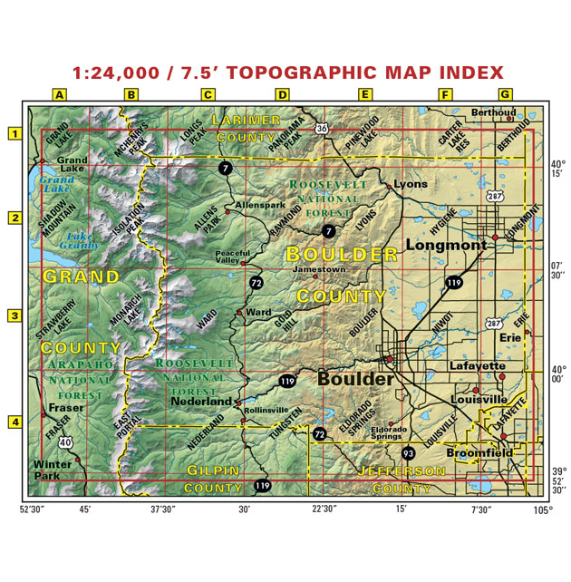 Boulder County Colorado trail map