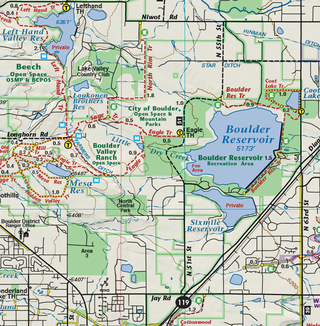 boulder reservoir trail map