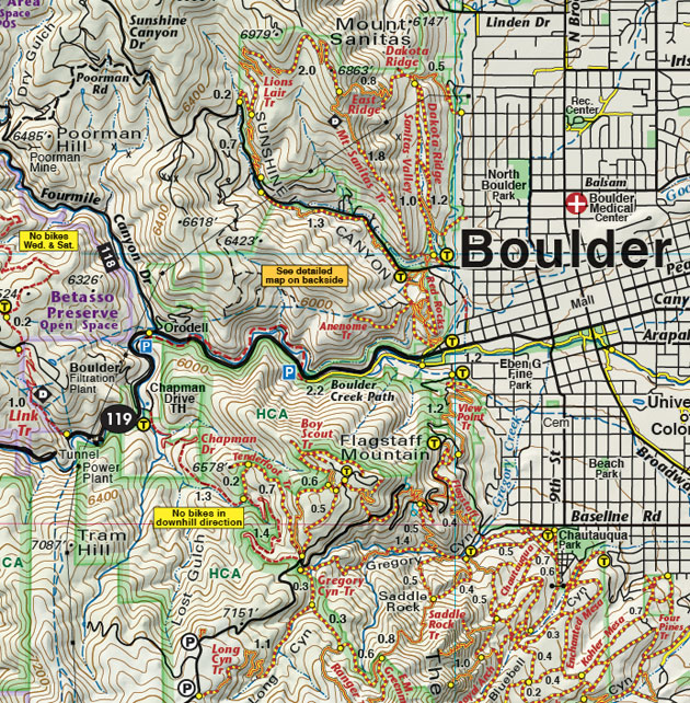 boulder colorado recreation bike trail map
