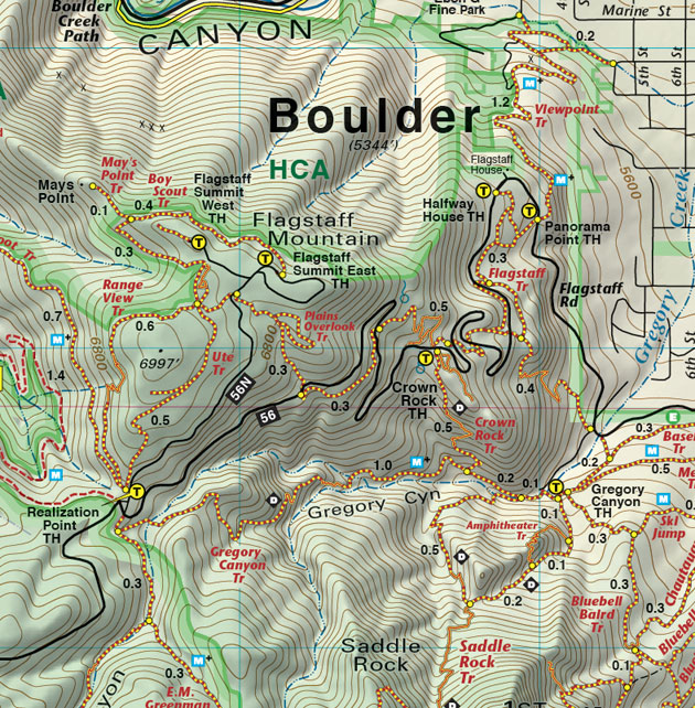 flagstaff mountain trails map boulder colorado
