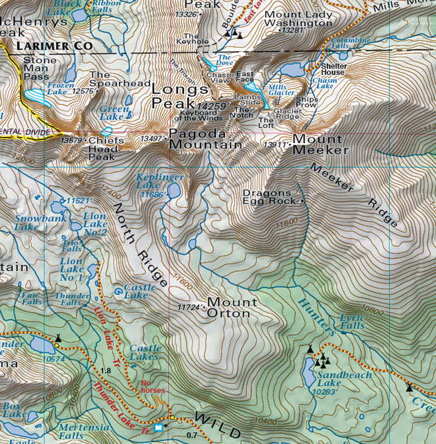 longs peak mount meeker map