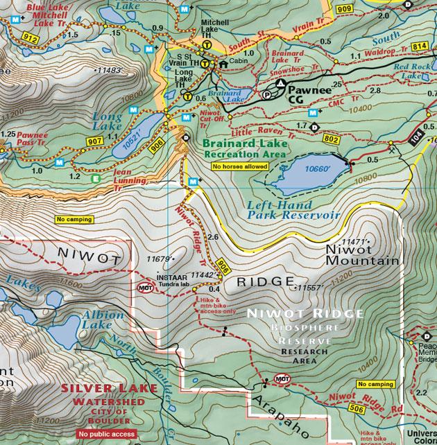 niwot ridge topo map