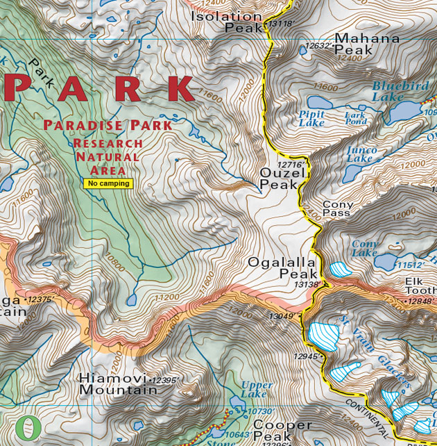 paradise park colorado biking trails map