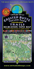 crested butte taylor park topographic trail map