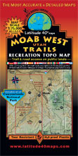 Moab topographic trail map