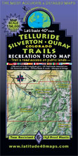 San Juans Colorado topographic trail map