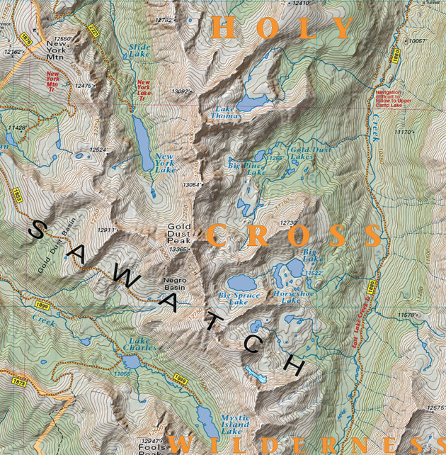 Sawatch topographic map