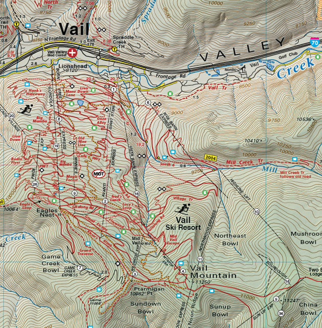 Vail resorts hiking biking map