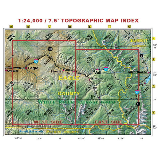 vail eagle topographic trail map