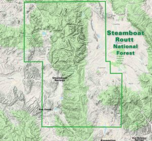 Steamboat Springs recreation trail map