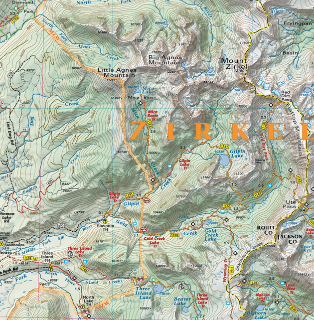 Steamboat Mountain trail map