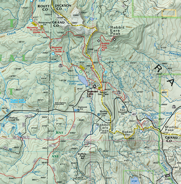 Rabbit Ears Pass trail map