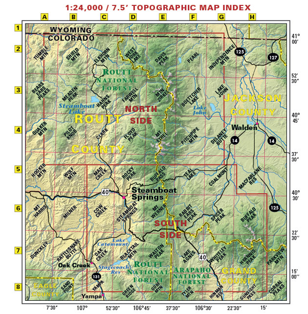 Steamboat Springs USGS topo maps