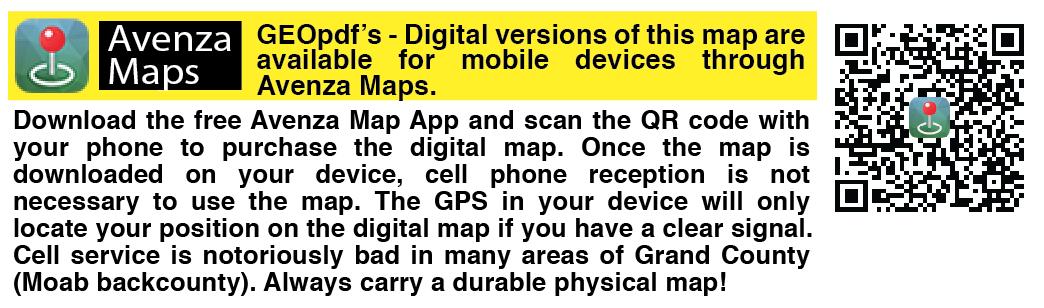 Moab trails digital map